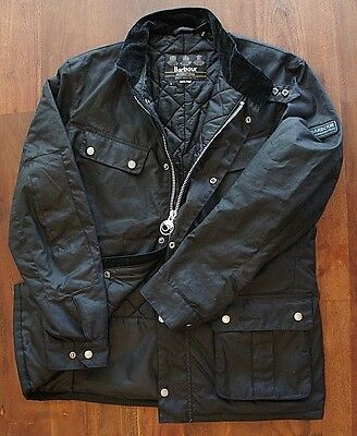 Barbour 'Duke' Regular Fit Waterproof Waxed Cotton Jacket (Mens Large)