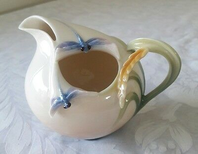 Franz Porcelain Dragonfly Design Sculptured Creamer/pitcher. Fz00118