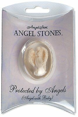 Angelstar 1-1/2-Inch Angel Worry Stone, Protected by Angels