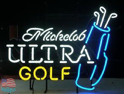 "Michelob Ultra Golf Bag Beer Pub Bar Neon Sign 20""x16"" From USA"