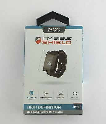 Zagg InvisibleShield Screen Protector for Pebble Watch HXPEBSWS-F0B New