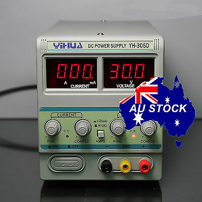 Variable Adjustable Power Supply Linear Mode 30V 5A Fan cooling Electronic Test