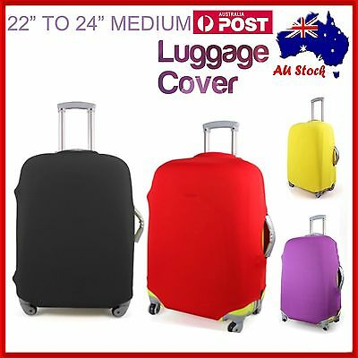 "22""-24"" MEDIUM Elastic Luggage Suitcase Cover Protection Protector Covers Travel"