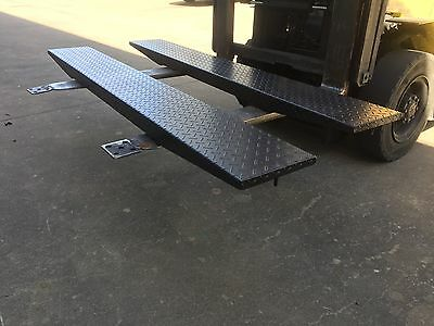 Pair Of Extension Ramps For Tandem Car Trailer Suit 12 14 16Ft 15Ft  Box Trailer