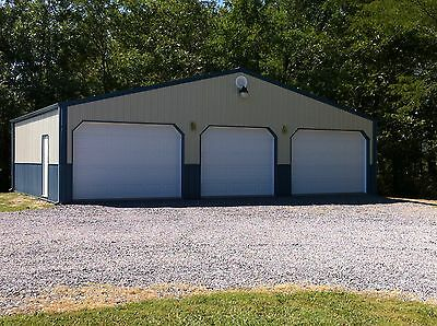 POLE BARN 40X30x12 GARAGE MATERIAL LIST BUILDING PLANS - E-FILE AS PDF OR WORD