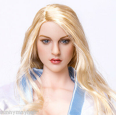 "1/6 Blonde Hair Emily Baby Doll Female European Actress Head Sculpt F 12"" Figure"