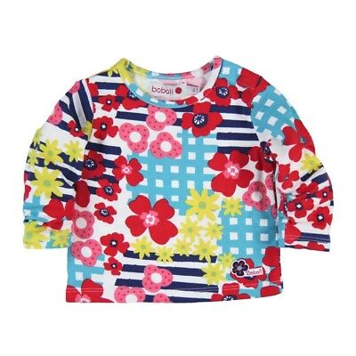 Bóboli Girls Baby Long Sleeve Shirt Flowers multi coloured sz. 62 68 74 80 86 92