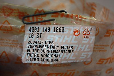 Lot of TWO Genuine Stihl Cutoff Saw Inner Air Filters 4201 140 1802  42011401802