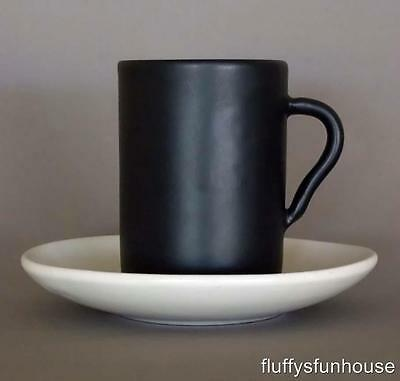 Ray Cook Classic Black And White Coffee Cup And Saucer Marked Exl Cond