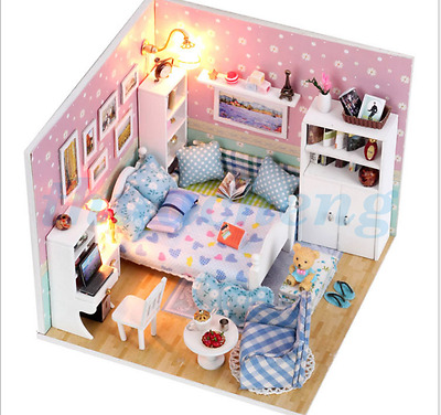 Dollhouse Handmade DIY Miniature Kit Wooden Dream House With Furniture Gifts