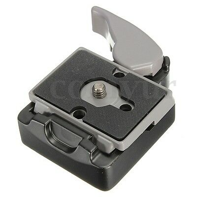 Camera 323 Quick Release Clamp Adapter with Manfrotto 200PL-14 Compat Plate 3/8