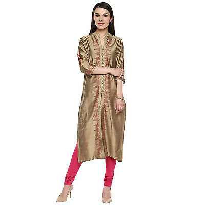 Indian Bollywood Kurta Kurti Designer Women Ethnic New Stylish Poly Silk Kurti