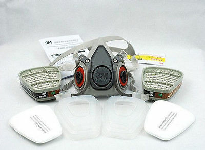 3M 6200 7502 Respirator Painting Spraying Gas Mask Cotton Filter/Cartridge