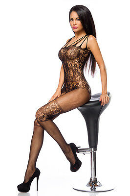 Bodystocking mit floralem Muster