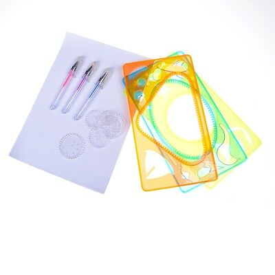 New Spirograph Geometric Ruler Stencil Spiral Art Classic Toy Stationery NT