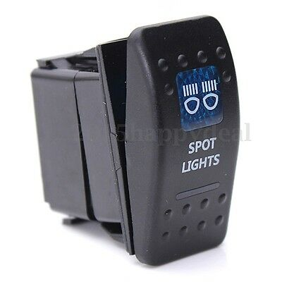 waterproof RV CAR BOAT MARINE ROCKER SWITCH  LED ON-OFF SPOT LIGHT