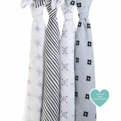 aden + anais Classic Swaddles, 4 Pack (Lovestruck)