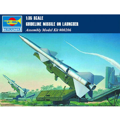 Trumpeter 00206 1/35 Scale SAM-2 Guideline Missile with Launcher Cabin Model Kit