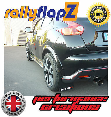 Mudflaps Mud Flaps rallyflapZ Qty4 to fit Nissan Juke Nismo Black +Logo(4mm PVC)