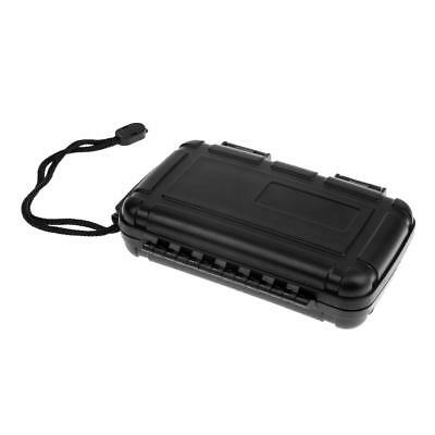 Black Scuba Diving Surfing Waterproof Dry Box Case Container with Lanyard