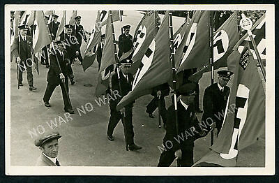 Germany (192) Berlin Parade Of People With The Flag Real Photo Pc Vf Vg Unused