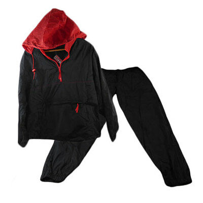 2 Pc Rain Proof Nylon Spray Over Jacket & Over Trousers Black S M L Xl Xxl