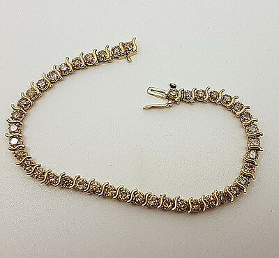 Fabulous 14ct Yellow Gold 2ct Diamond Tennis Bracelet.  Goldmine Jewellers