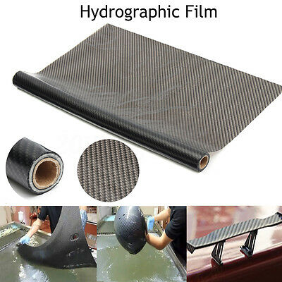 UK 5X1M Hydro Dipping Hydrographics Water Transfer Film Black Carbon Fiber Print