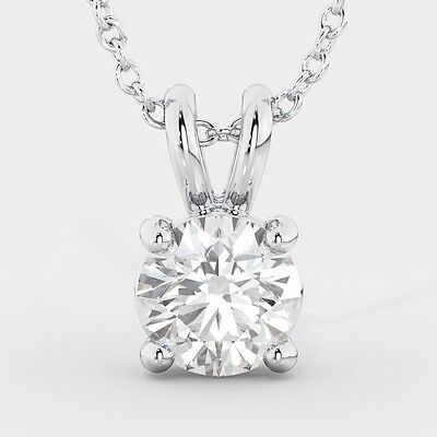 1/3  Carat Round Solitaire White Gold Diamond Pendant+Necklace SPECIAL PROMOTION