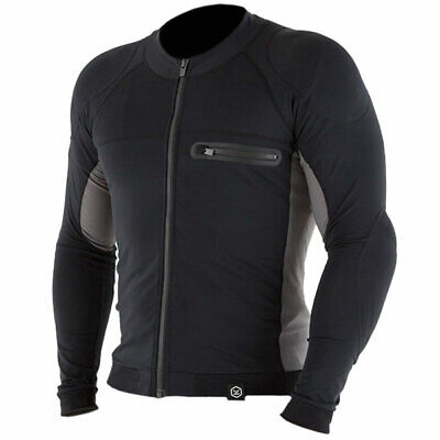 Knox Mens Action Motorcycle Motorbike Armoured Under Shirt - Black / Grey