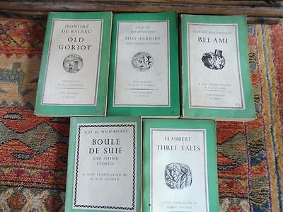 5 x Vintage Penguin Classics Books Green /Cream  Translated to English  Job Lot