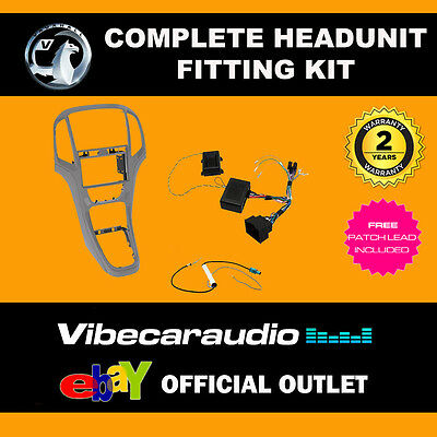 Connects2 CTKVX01 Vauxhall Astra J 2010 Stereo Fascia Stalk Complete Fitting Kit