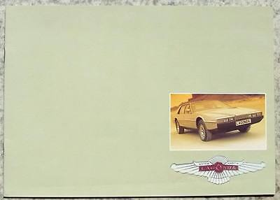 ASTON MARTIN LAGONDA Car Sales Brochure 1980
