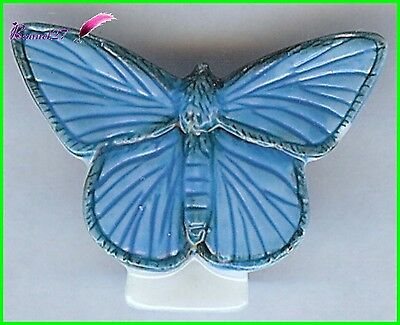 "Feve  Edition Atlas Papillon Butterfly "" Le Azure Commun "" #D21"