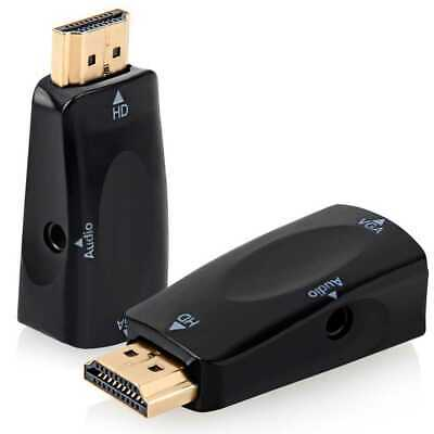 Mini Cavo Adattatore Convertitore HD da HDMI Maschio a VGA Audio Jack 3.5 Video