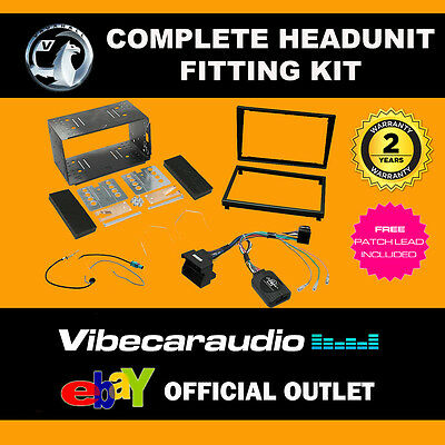 Connects2 CTKVX08 Vauxhall Meriva 07-10 Double Din Car Stereo Fascia Fitting Kit