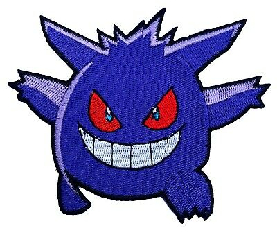 GENGAR Pokemon Go Patch Embroidered Sew/Iron-on Badge Costume Quality Applique