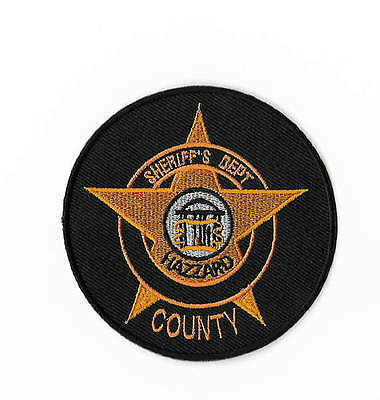 The Dukes of Hazzard Patch Embroidered Badge Replica Sheriff's Dept Rosco County