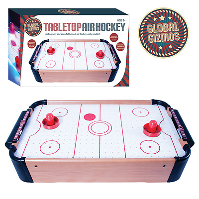 Global Gizmos TABLETOP AIR HOCKEY Indoor Game Fun Portable Gift
