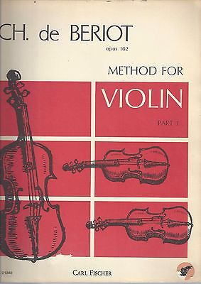 CH. de Beriot Opus 102 Method for VIOLIN Part I English & French Text  ~ F27a