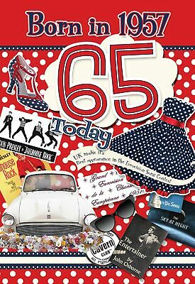 65th Birthday Card 1953 Year You Were Born Female Facts Inside