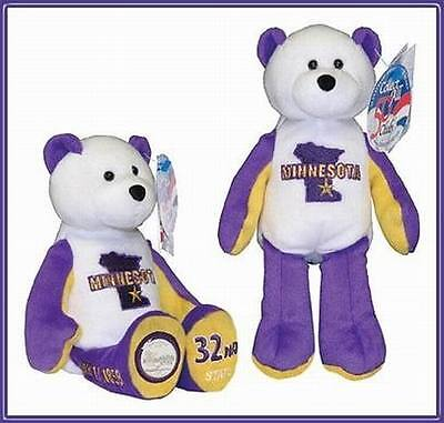 "Minnesota State Quarter Coin Plush Stuffed 9"" Bear Limited Treasures-32nd State"