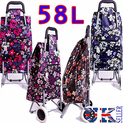 New EAGLE 58L LARGE LIGHT WEIGHT HARD WEARING SHOPPING TROLLEY PULL CART BAG