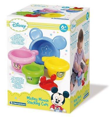 New Clementoni Disney Mickey Mouse Baby Mickey Stacking Cups