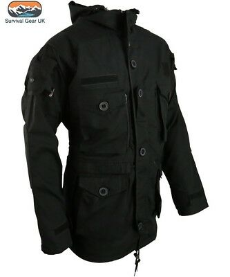 Black SAS Smock Tactical Army Jacket Windproof Military Assault Jacket (S-2XL)
