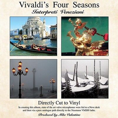Vivaldi The Four Seasons Direct To Vinyl Cut Lp
