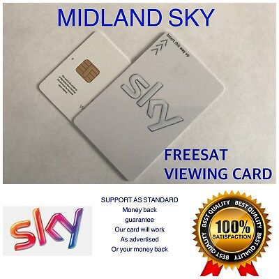 ACTIVATED FREESAT VIEWING CARD PLUS AND HD UK FREE 2nd CLASS POST