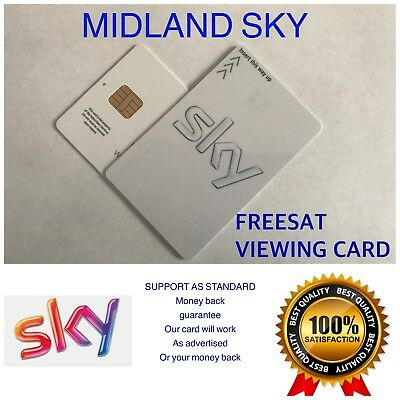 ACTIVATED RED FREESAT VIEWING CARD PLUS AND HD UK FREE 2nd CLASS POST
