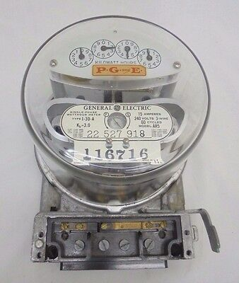 Vintage GE General Electric PG and E Electrical House Meter Rare Find Steampunk