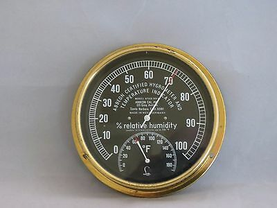 Vintage Abbeon Certified Hygrometer and Temperature Indicator Model HTAB169B
